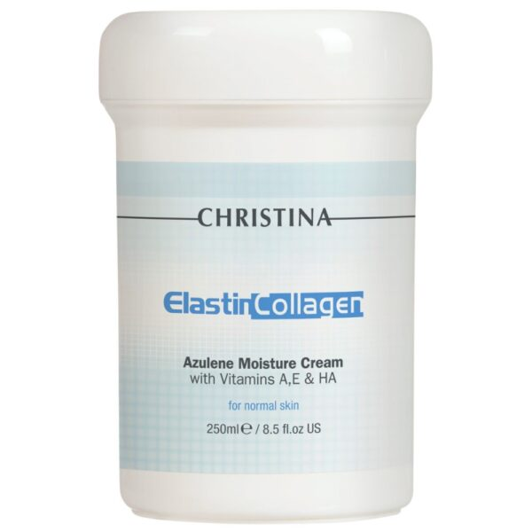 Elastin Collagen Azulene Moisture Cream Christina, 250 ml / Увлажняющий азуленовый крем с коллагеном и эластином Кристина, 250 мл