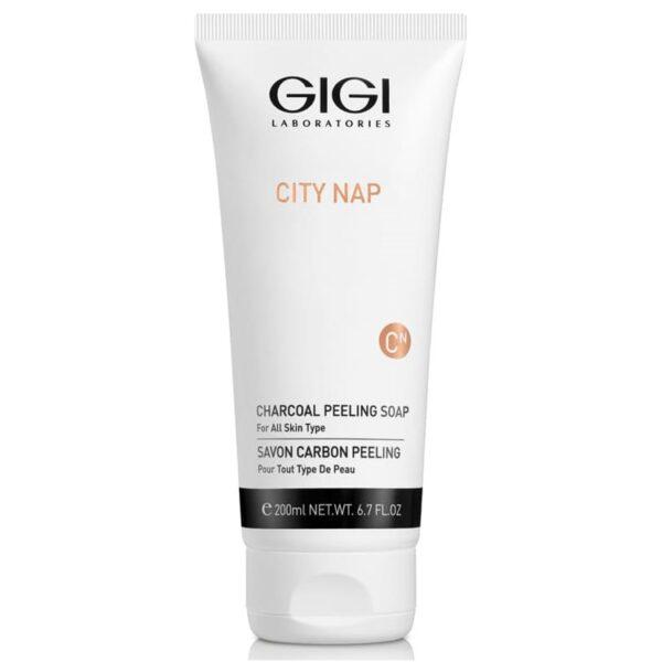 City Nap Charcoal Peeling Soap GIGI, 200 ml / Карбоновое мыло-скраб для лица ДжиДжи, 200 мл