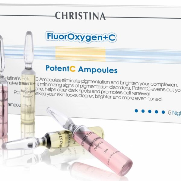 """FluorOxygen+C Potent C Ampoules Christina, 5 Day & 5 Night / Набор ампул """"Флюроксиджен"""" для осветления кожи Кристина, 5 дневных и 5 ночных"""