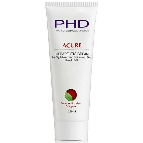 Acure Therapeutic Cream UVA & UVB PHD, 250 ml / Крем увлажняющий для жирной и проблемной кожи ПиЭйчДи, 250 мл