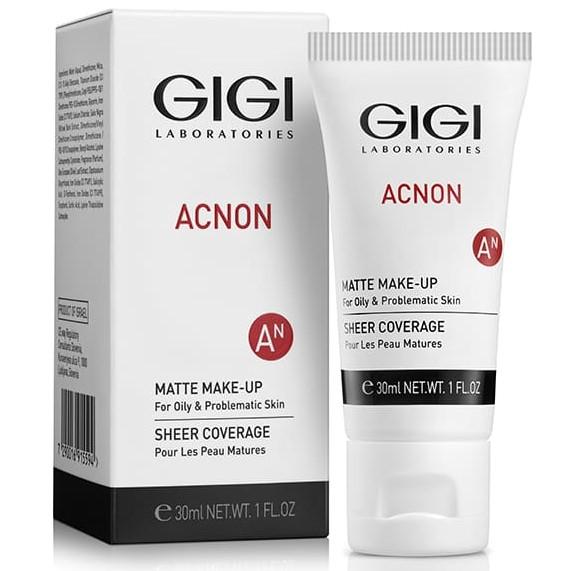 Acnon Matte Make-up GIGI, 30 ml / Крем-тон матирующий для проблемной и жирной кожи ДжиДжи, 30 мл