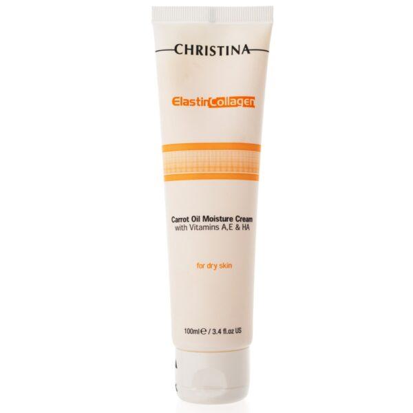 Elastin Collagen Carrot Oil Moisture Cream Christina, 100 ml / Увлажняющий крем с морковным маслом, коллагеном и эластином Кристина, 100 мл