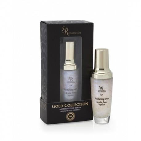 24K Gold Flakes Serum SR Cosmetics, 40 ml / Сыворотка для лица с золотой и кристальной крошкой ЭсЭр Косметикс, 40 мл