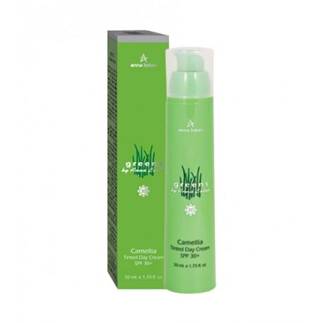 Greens Camellia Tinded Day Cream SPF 30+ Anna Lotan, 50 ml / Увляжняющий тональный крем Камелия SPF 30+ Анна Лотан, 50 мл